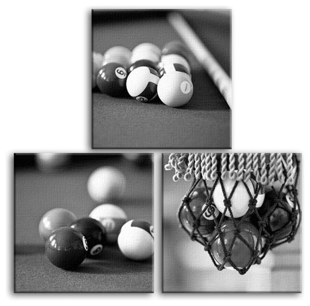 Darin Ashton Photography 3 Piece Billiard Pool Room