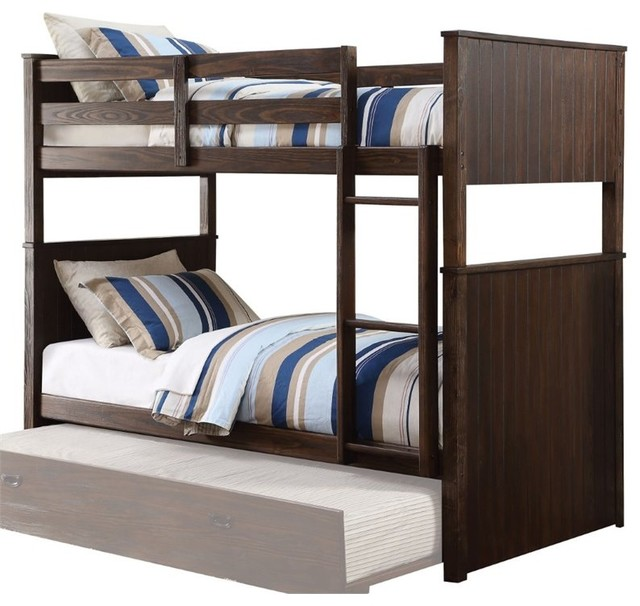 Acme Hector Twin Over Twin Bunk Bed Antique Charcoal