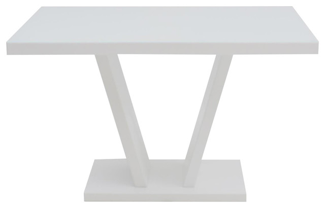 Valentino Dining Table, White High Gloss