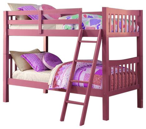 Girls Bunk Beds, Pink, 2 by Custom Kids Furniture
