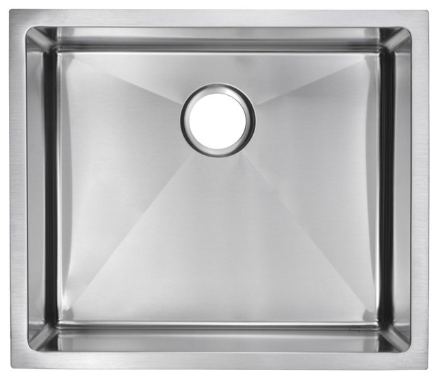 23 X 20 Small Radius Single Bowl Stainless Steel Undermount Kitchen Sink Modern