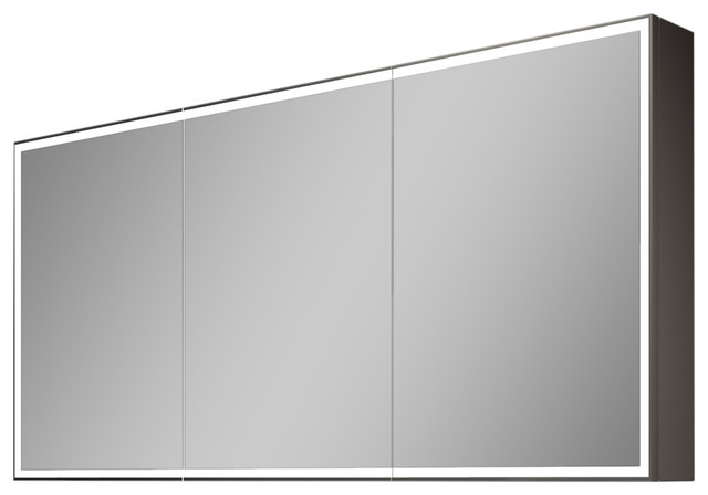 """Galaxy Dimmable Lighted Bathroom Cabinet, 60""""x28"""", 6000K - Modern - Medicine Cabinets - by IB Mirror"""