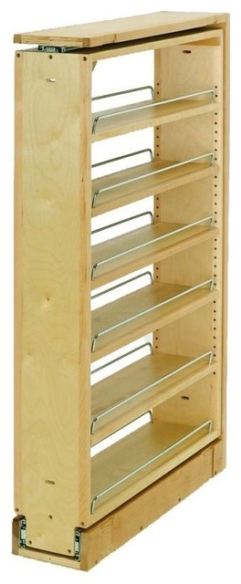 Rev-A-Shelf 432-Tf39-6c 432 Upper Cabinet Filler Organizer, Natural Wood.