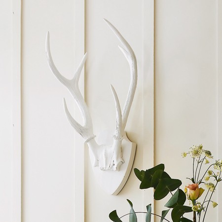 White Resin Deer Antlers  accessories and decor