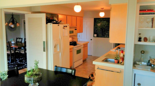 Small Open Galley Kitchen fitting it all into small open concept galley kitchen