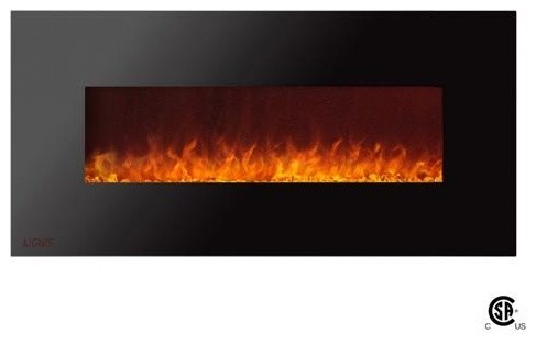 "50"" Royal Wall Mount Electric Fireplace With Crystals"