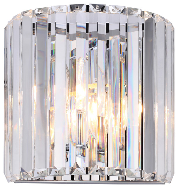 Liffey Vintage Crystal Wall Sconce. -1