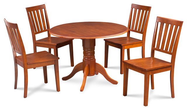 Shop houzz m d furniture burlington 5 piece dining room for 9 piece dining room set with leaf