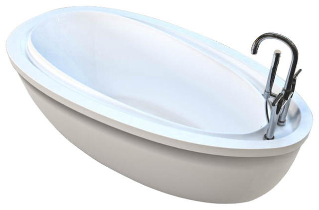 Atlantis Tubs 3871bba Breeze 38x71x24 Inch Freestanding Whirlpool Air Jetted Traditional Bathtubs