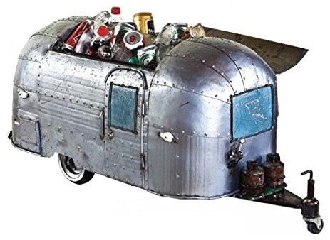 Think Outside Airstream Trailer Authentic Fully Functional Metal Cooler.