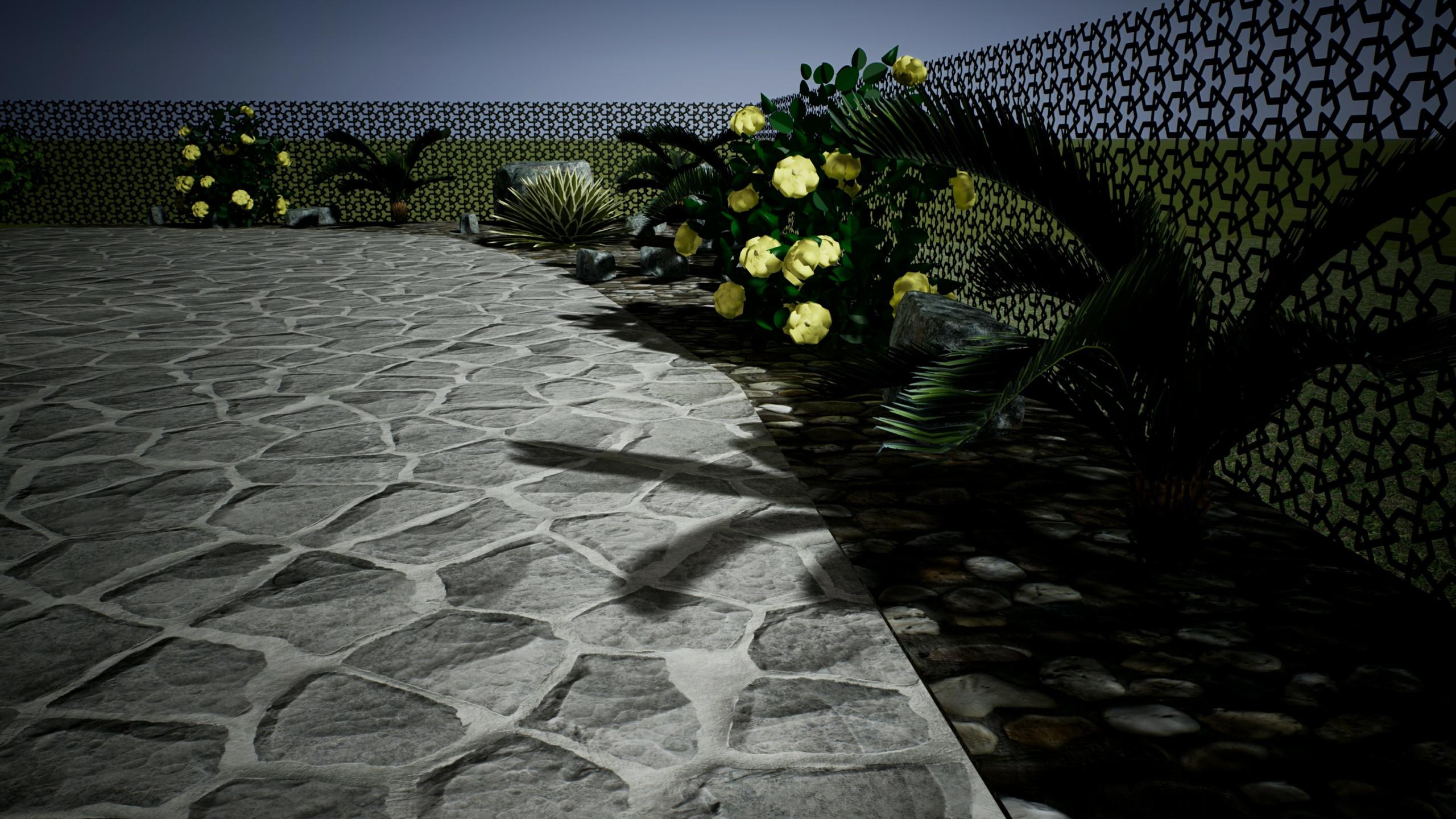 progetto di un giardino in villa