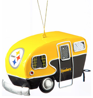 Pittsburgh Steelers Metal Camper Ornament - Contemporary - Christmas ...
