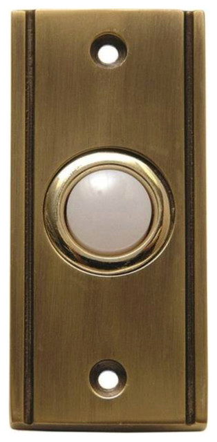 Carlon Dh1631l Wired Door Bell Pushbutton Antique Brass