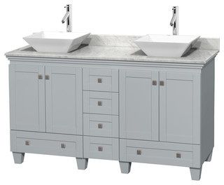 Acclaim 60 double vanity white carrera bathroom for Z gallerie bathroom vanity