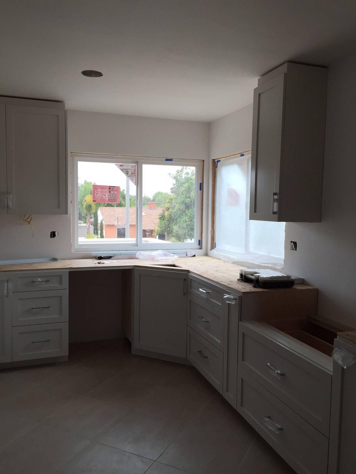 Kitchen during remodeling