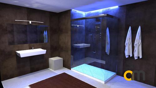 Illuminazione cabina doccia con led rgb - Illuminazione doccia con led ...
