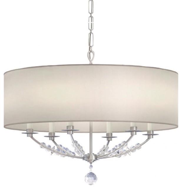 Polished nickel chandeliers houzz crystorama lighting crystorama lighting 8006 pn mirage modern chandelier in polished nickel chandeliers aloadofball Image collections
