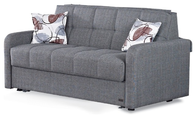 BEYAN Stella Collection Queen Size Convertible Sofa Sleeper with ...