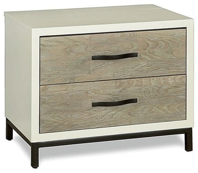 Beaumont Lane Nightstand, Gray Parchment.