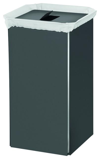 Lb Bandoni Aluminium Hamper Wide Laundry Basket Organizer Storage W/ Cover Lid.