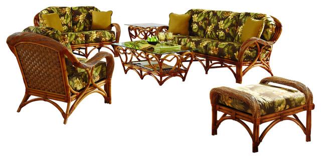Caneel Bay 6-Piece Living Room Furniture Set, Esprit Robins Fabric.