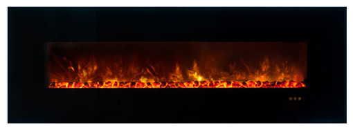 "Ambiance Clx Electric Fireplace, Black Glass Surround, 80""."