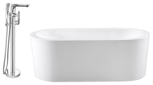 "Streamline 67"" Freestanding Faucet And Tub Set, H-120-Tfmshch."