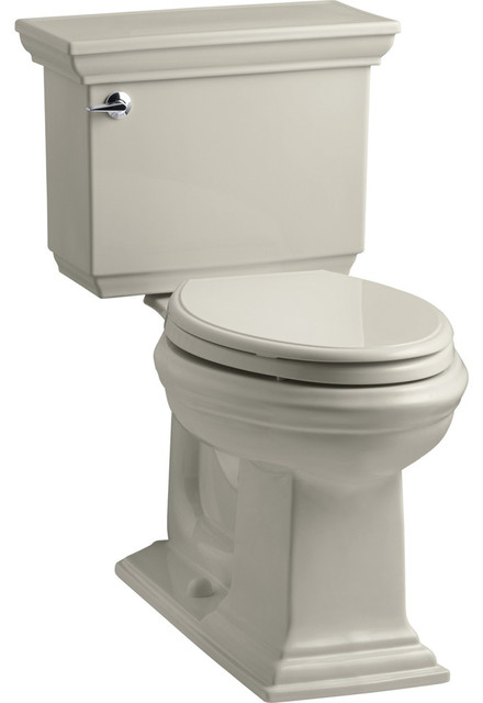 Kohler Memoirs Stately Comfort Height 2 Piece Elongated Toilet Sandbar Transitional