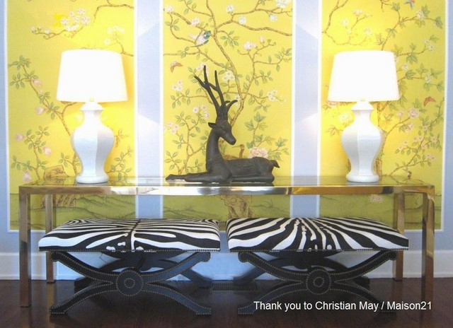 Griffin And Wong Chinoiserie Handpainted Wallpaper Asian