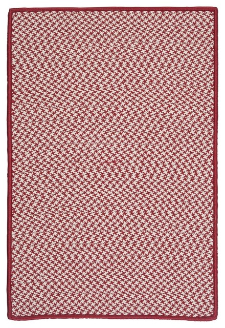 Colonial Mills Outdoor Houndstooth Tweed Rug Red