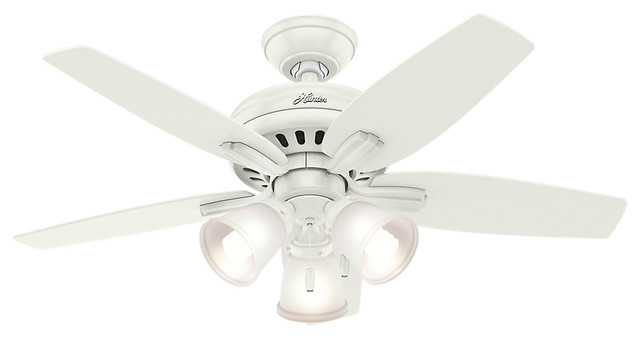 Hunter 42 Newsome With 3 Lights Fresh White Ceiling Fan With Light.