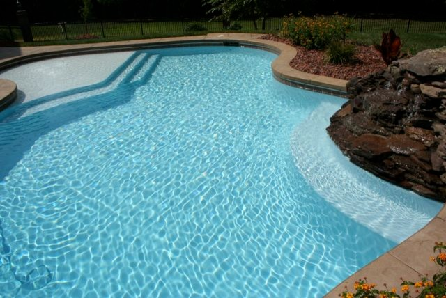 Water Color Starts With Interior Finish Selection Traditional Pool Raleigh By Vue Custom