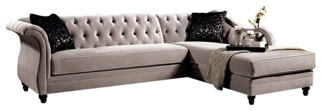 Rotterdam Sectional Sofa, Warm Gray traditional-sectional-sofas