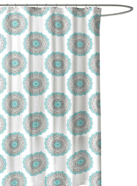 Medallion Circle Fabric Shower Curtain