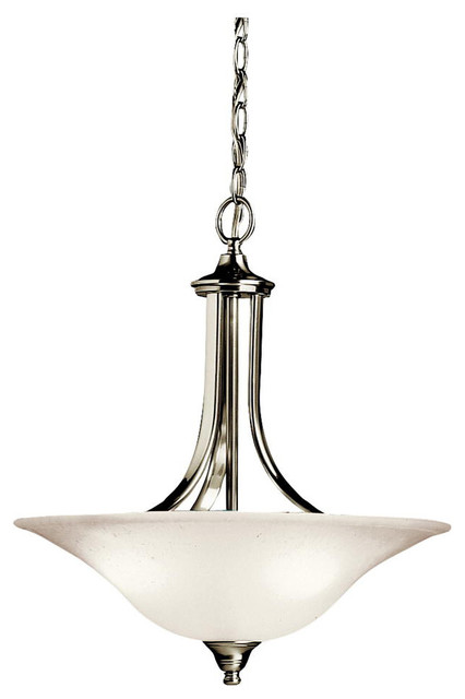 Kichler Lighting 3502ni Dover Brushed Nickel Convertible Pendant.