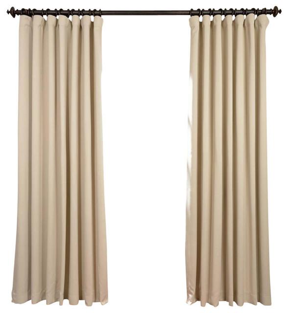 "Eggnog Doublewide Blackout Curtain Single Panel, 100""x96""."