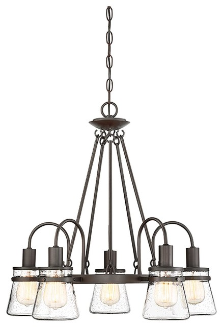 Savoy House Portsmouth 5 Light Outdoor Chandelier English Bronze Transitional Hanging Lights By Better Living