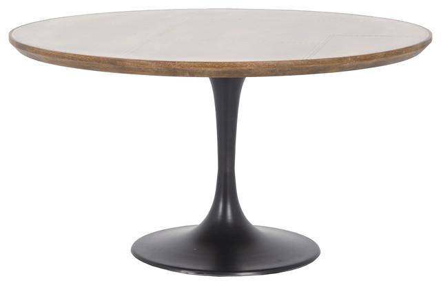 Elegant Charles Industrial Brass Round Tulip Iron Dining Table Industrial Dining  Tables
