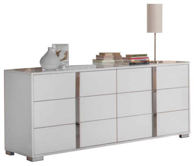Modrest San Marino Modern Dresser, White