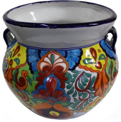 Phenomenal Medium Size Rainbow Talavera Ceramic Pot Machost Co Dining Chair Design Ideas Machostcouk