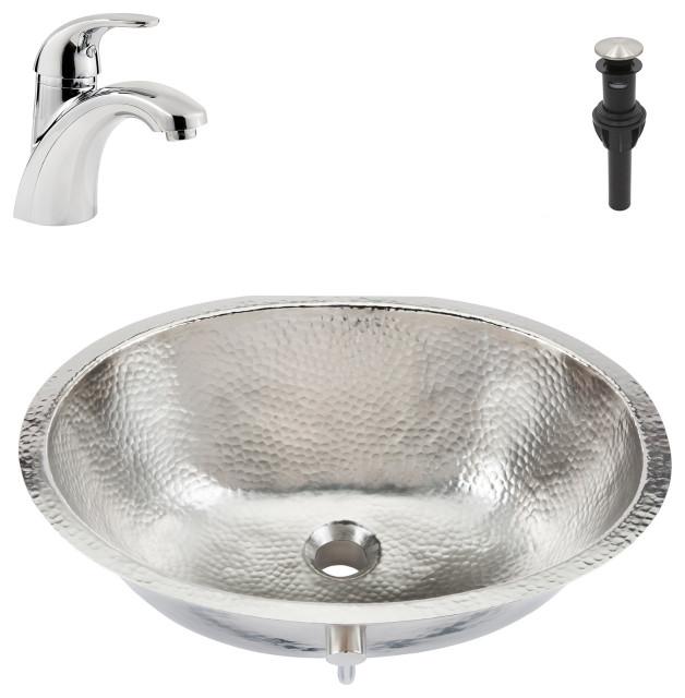 Pavlov Undermount Nickel Bath Sink, Pfister Parisa Faucet and Drain