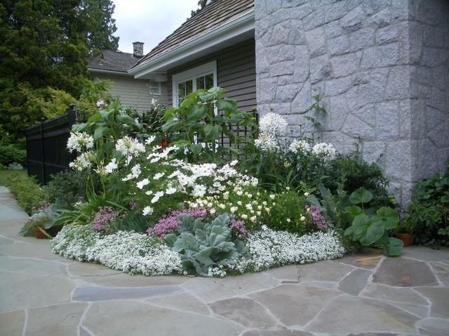 White garden traditional vancouver by glenna partridge garden