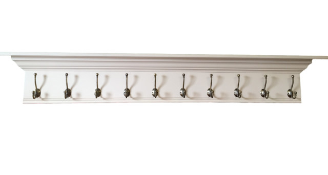 Wall Coat Rack Fancy Mantel Coat Rail.