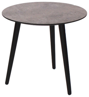 Jabo furniture new york laminate concrete coffee table for Small industrial coffee table