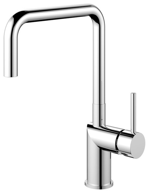 Rhythm Kitchen Mixer Tap, Square, High Gloss Stainless Steel