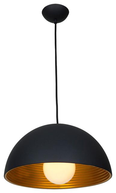 """Astro, 23767, Dome Pendant, Matte Black, 16""""x16""""x8""""."""