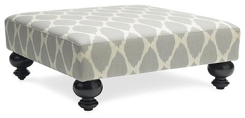 Essex Printed Ottoman traditional ottomans and cubes