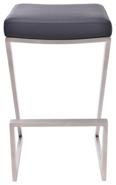 Enjoyable Atlantis Backless Counter Stool Brushed Stainless Steel 26 Machost Co Dining Chair Design Ideas Machostcouk
