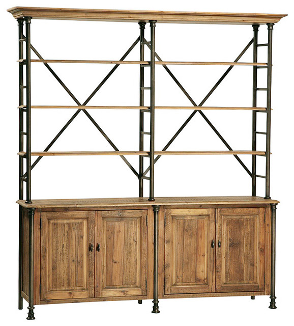 Reclaimed Wood and Iron Hutch - Asian - China Cabinets And Hutches - by Design Mix Furniture