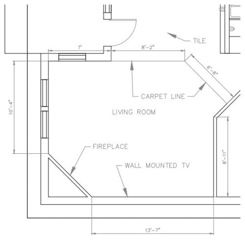 Odd Shaped Living Room, Please Suggest Furniture